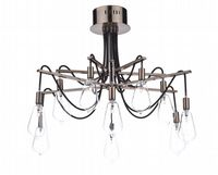 Scroll 10 Light Fitting Finished in Copper with Clear Glass Shades - där SCR2364